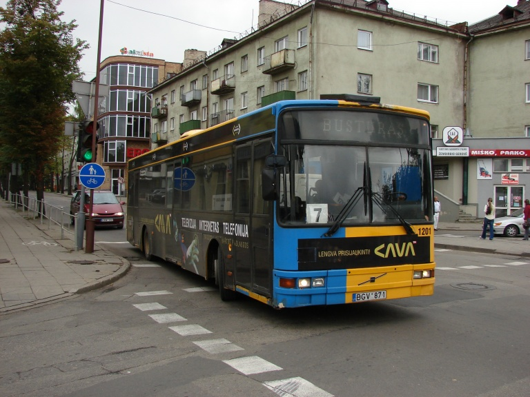 Busturas 1201/BGV871 i Šiauliai i Litauen den 6. august 2008