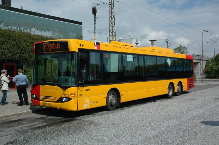 Arriva 1536/TX92619 ved Åmarken st. den 13. maj 2007