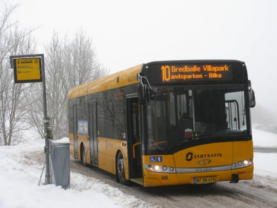 Bent Thykjær 686/BF88476 på Grønlandsvej i Vejle den 8. december 2010