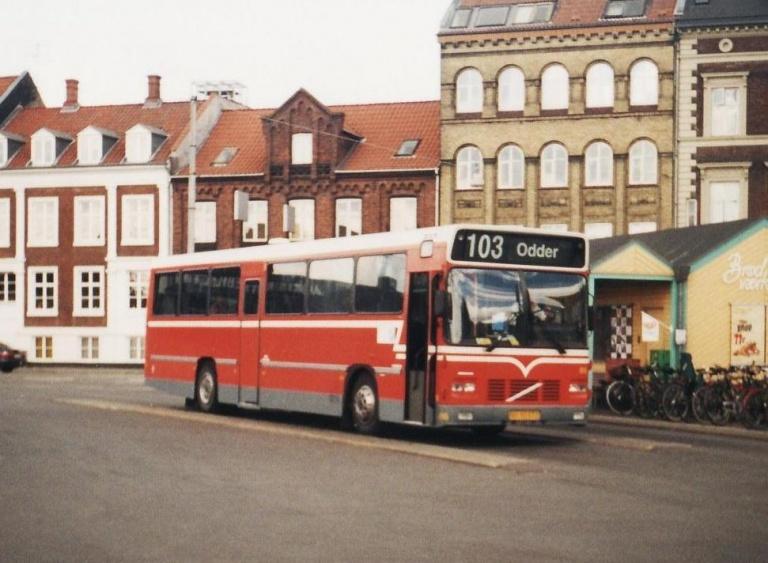 Linjebus 84/NY92870 på Århus Rutebilstation den 27. maj 2000. Sidste dag på ruten for Linjebus