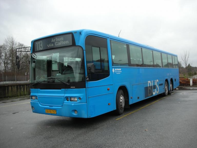 PP Busselskab 106/SD92737 ved Silkeborg station den 9. januar 2007