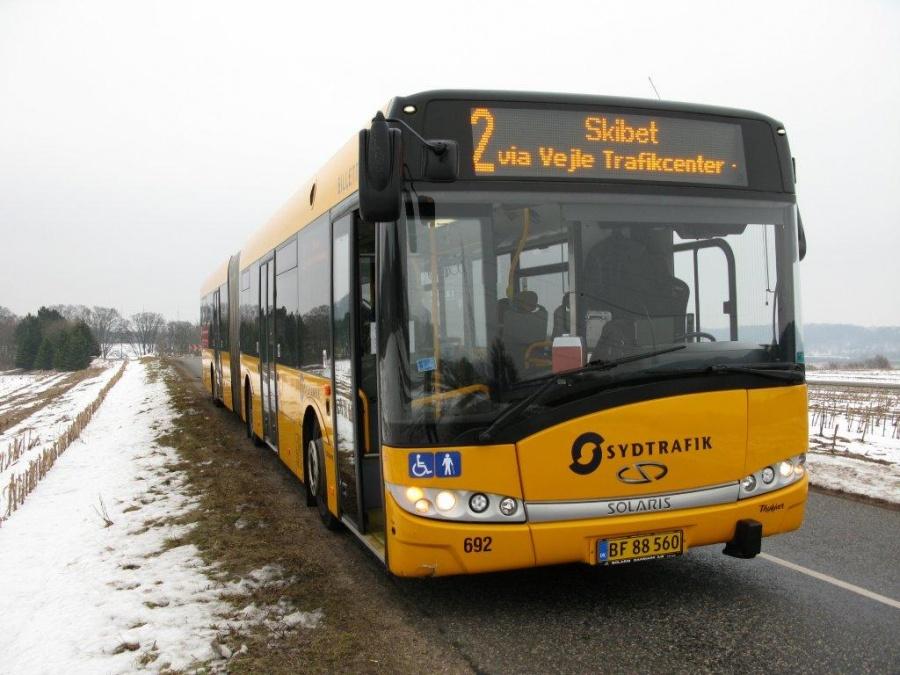 Bent Thykjær 692/BF88560 på Knabberupvej i Knabberup ved Vejle den 28. februar 2011