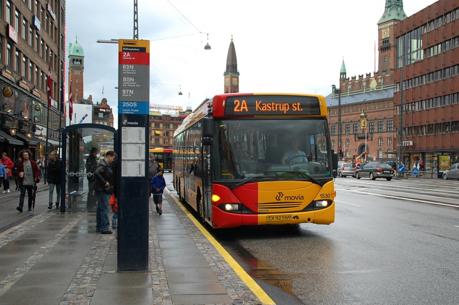 Arriva 1530/TX92569 i Vesterbrogade ved Rådhuspladsen i København den 20. juni 2010