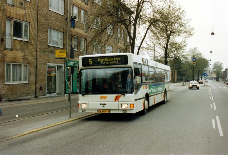 HT testbus MK96616 på Frederikssundsvej i Brønshøj den 27. april 1991