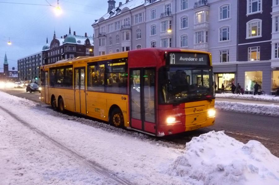 City-Trafik 2725/SR93041 på Østerbrogade i København den 3. februar 2010