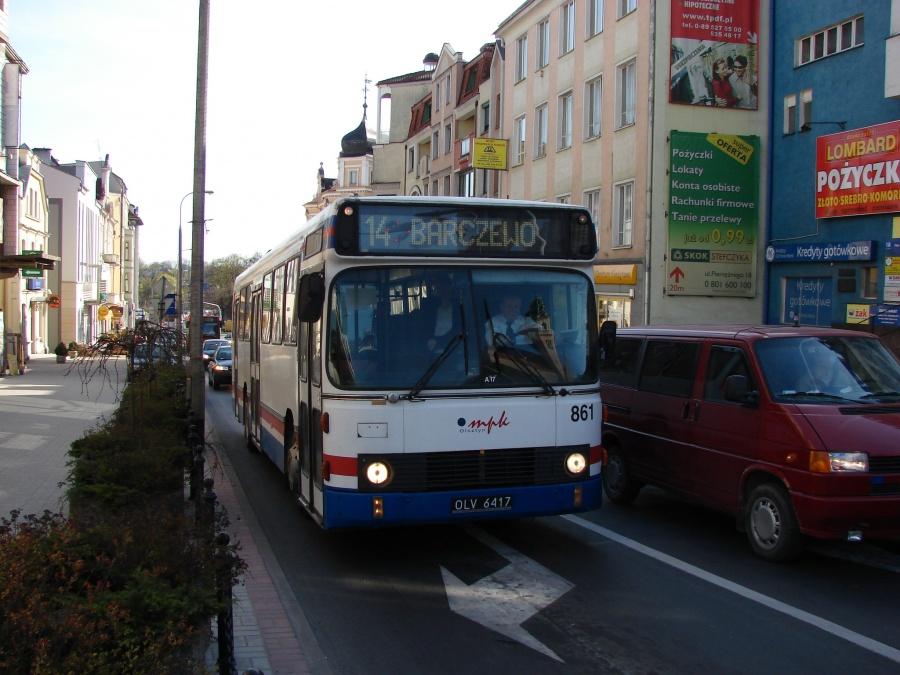MPK Olsztyn 861/OLV6417 i Olsztyn i Polen den 21. april 2009