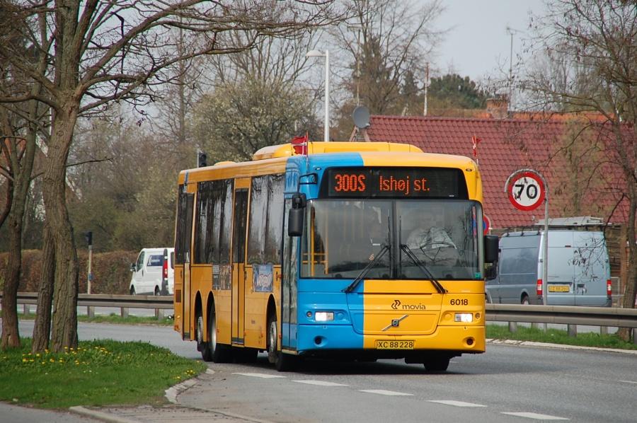 Nobina 6018/XC88228 på Nordre Ringvej ved Glostrup Hospital den 29. april 2010