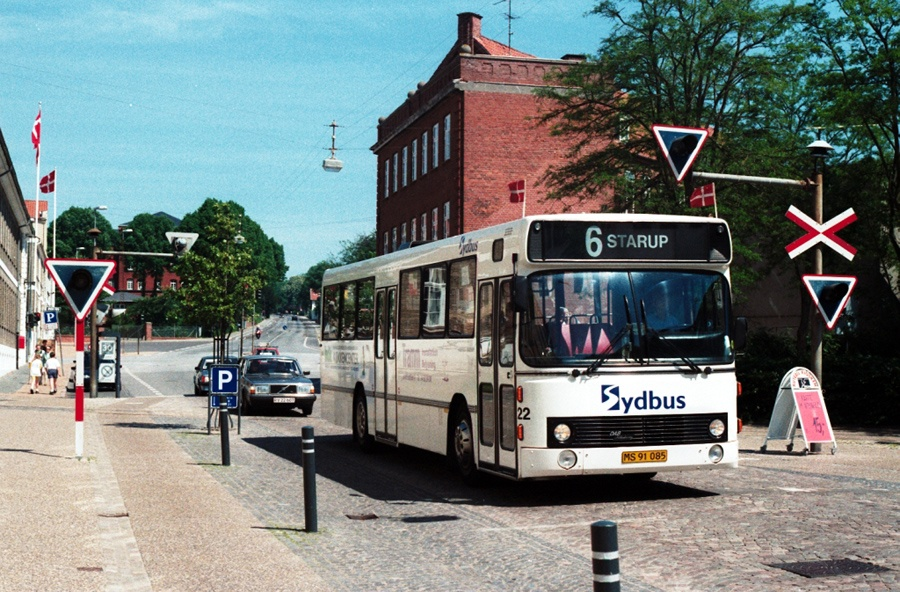 Haderslev Bybusser 22/MS91085 på Nørregade i Haderslev den 31. maj 1997
