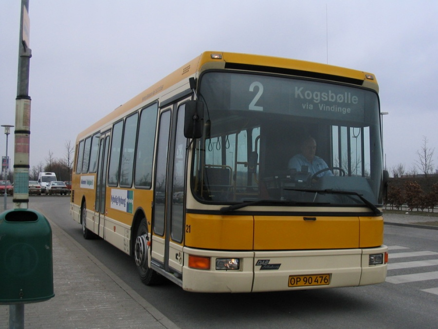 Nyborg Bybusser 21/OP90476 på Nyborg St. den 15. marts 2006