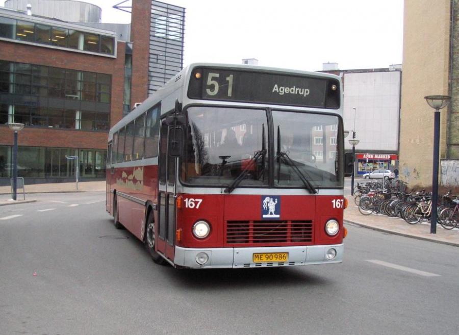 Odense Bybusser 167/ME90986 på Odense Banegård Center den 15. marts 2006