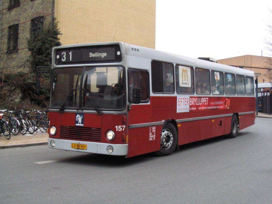 Odense Bybusser 157/LX94901 på Odense Banegård Center den 15. marts 2006