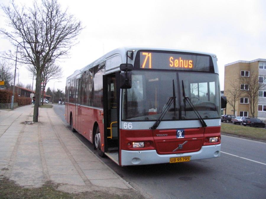 Odense Bybusser 66/UB95795 ved Æbleparken i Odense den 15. marts 2006