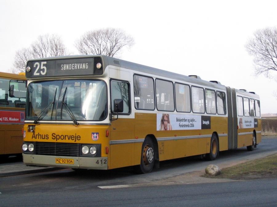 Århus Sporveje 412/MZ92806 i Tilst den 23. marts 2006