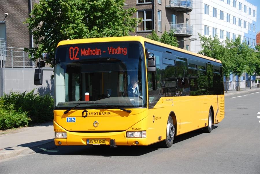 Bent Thykjær 678/AW92848 ved Vejle Trafikcenter den 27. juni 2010