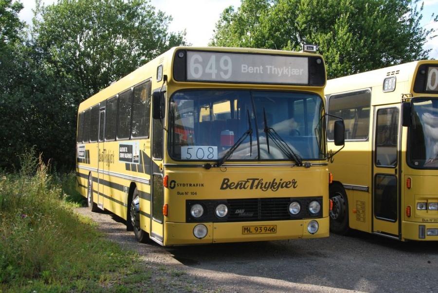 Bent Thykjær 104/ML93946 i Uldum den 20. juli 2009