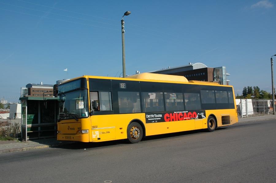 Arriva 1502/RE88967 på Teglholmen i København den 24. september 2008