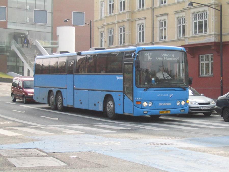 Connex 2853/SH93821 på Vester Allé i Århus den 26. marts 2005