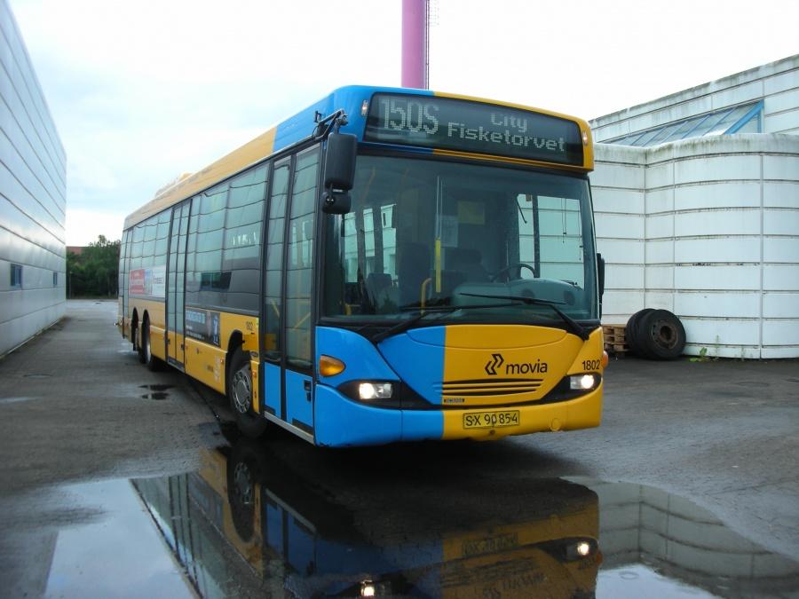 Arriva 1802/SX90854 i Kokkedal garage den 17. juni 2007