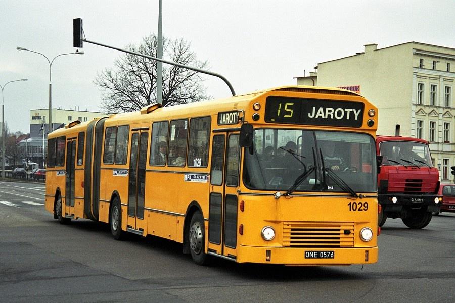 MPK Olsztyn 1029/ONE0576 i Olsztyn i Polen den 16. februar 2001