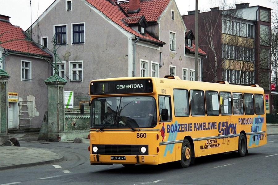 MPK Olsztyn 860/OLX4397 i Olsztyn i Polen den 16. februar 2001