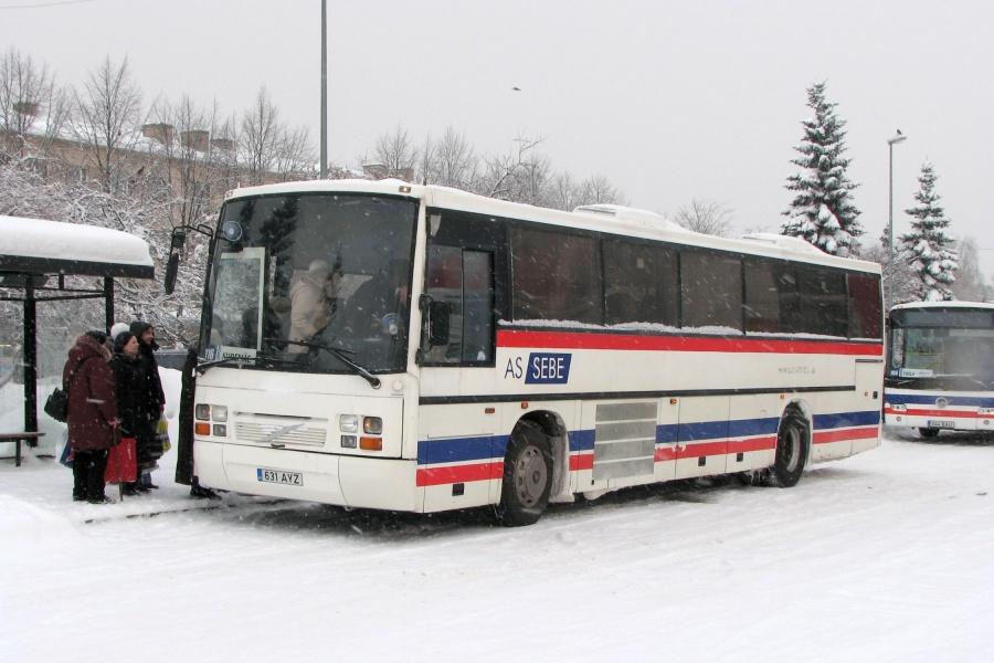 SEBE 631AYZ i Jõhvi i Estland den 8. januar 2010