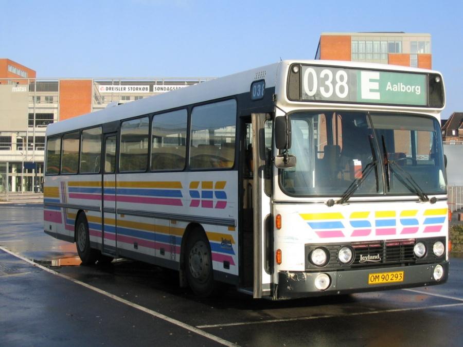 SES Buslinier 45/OM90293 på Aalborg Busterminal den 28. oktober 2005
