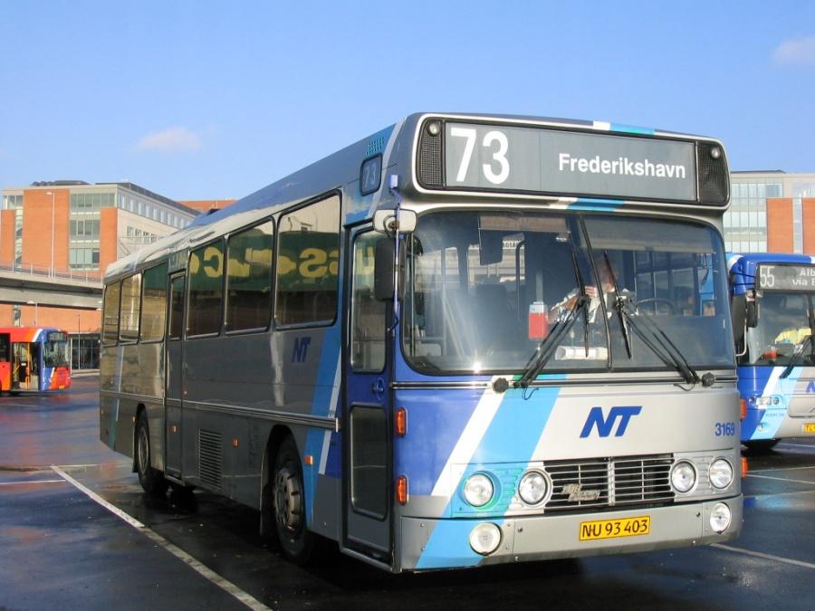 Wulff Bus 3169/NU93403 på Aalborg Busterminal den 28. oktober 2005