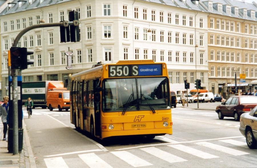 City-Trafik 2401/OM93906 på Vesterbrogade i København i 1998