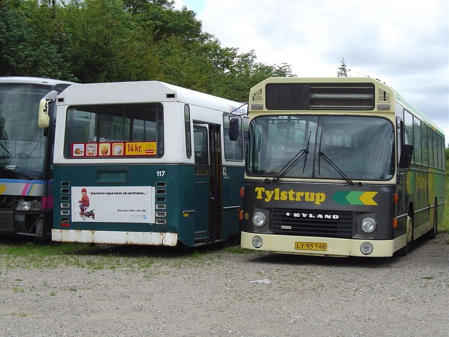 Ex. Randers Byomnibusser 117 og Tylstrup Busser 65/LY93146 i Tylstrup den 19. juni 2004