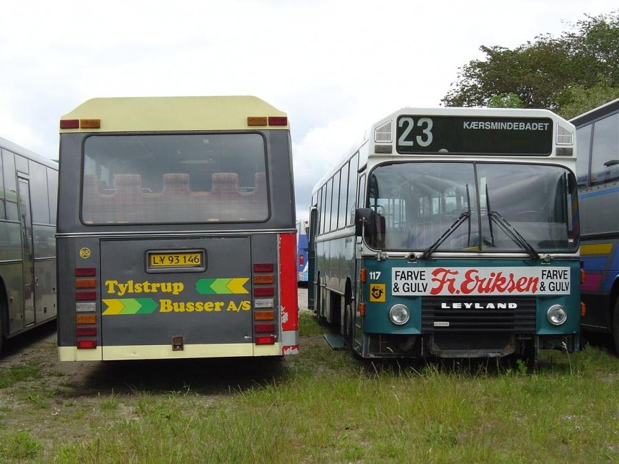 Tylstrup Busser 65/LY93146 og ex. Randers Byomnibusser 117 i Tylstrup den 19. juni 2004