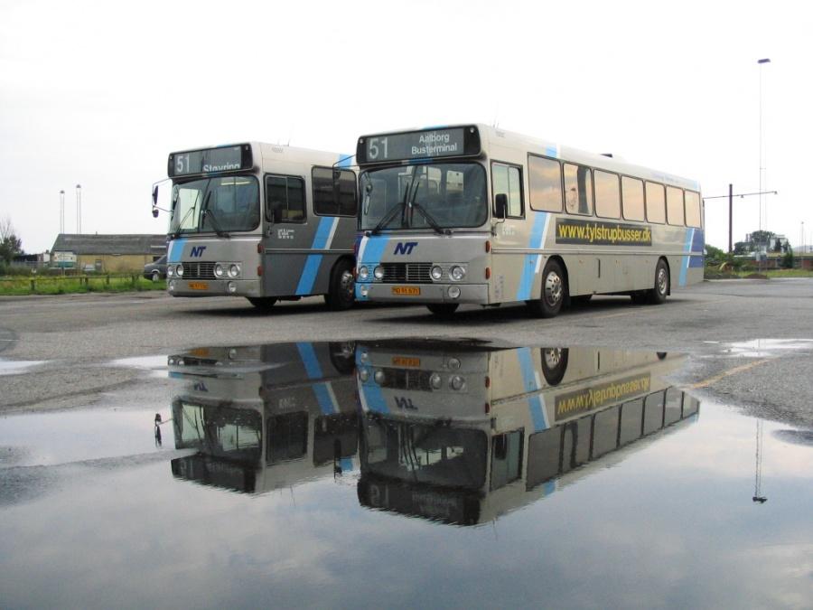 Tylstrup Busser 163/NB97530 og 162/MD91671 i Aalborg den 1. august 2006