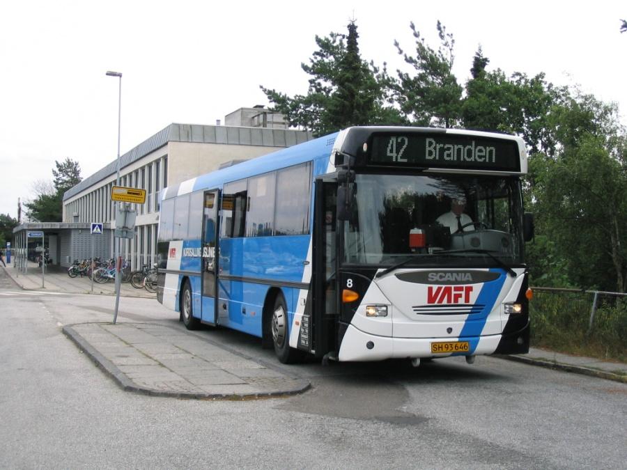 Nordsallings Buslinier 8/SH93646 på Skive Rutebilstation den 31. juli 2006