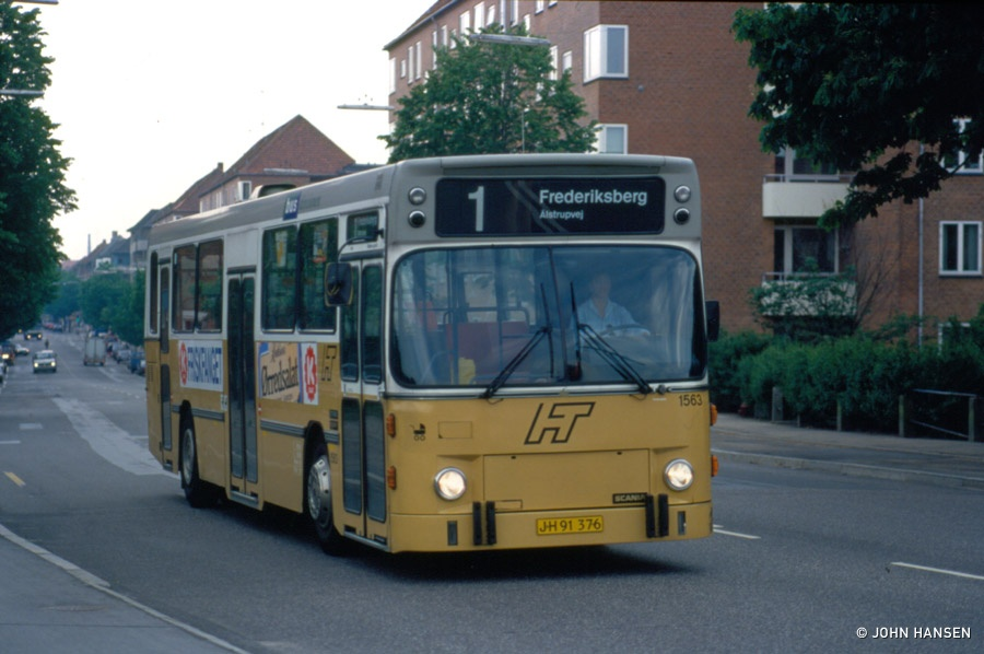 HT 1563/JH91376 på Peter Bangsvej på Frederiksberg den 2. juni 1994