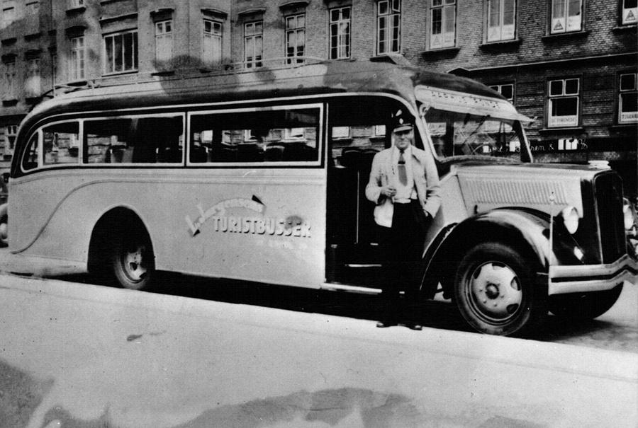 De Graa Busser på Park Allé i Århus
