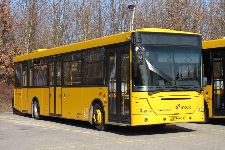 City-Trafik 2452/US94434 i garagen i Slagelse den 3. marts 2012