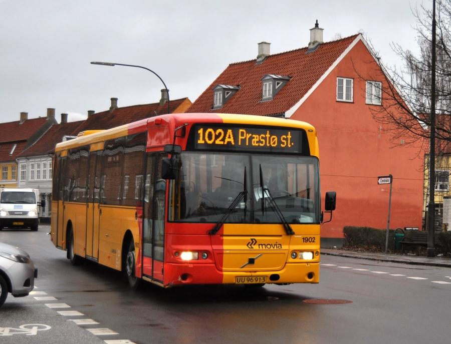 Arriva 1902/UU96913 på Søndre Allé i Køge den 11. februar 2011