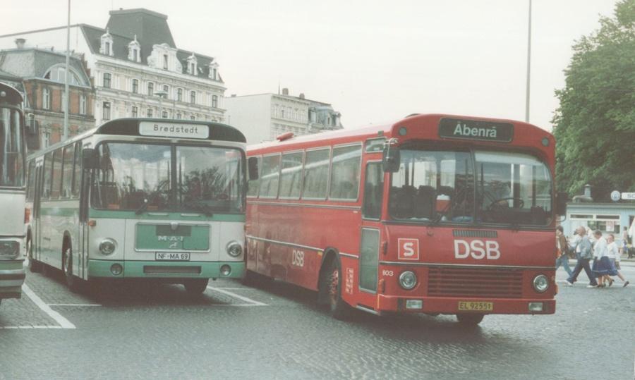 DSB 603/EL92551 i Flensburg i Tyskland den 30. maj 1988