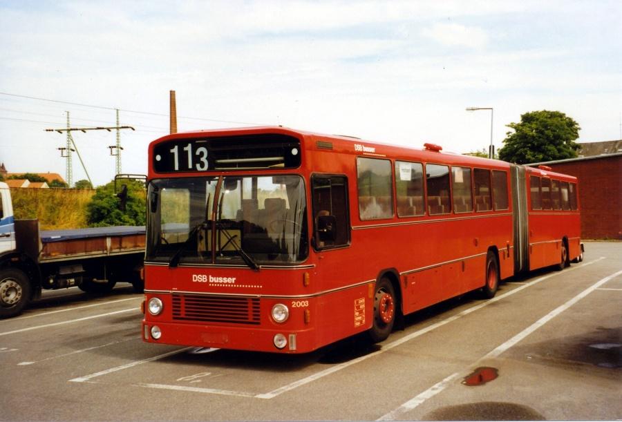 DSB 2003 i garagen i Kolding i 1997