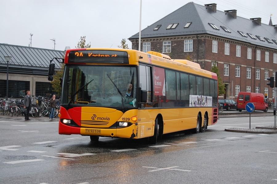 Arriva 1529/TX92528 på Bernstoffsgade i København den 28. september 2009