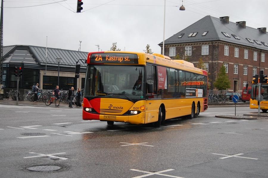 Arriva 1531/TX92570 på Bernstoffsgade i København den 28. september 2009