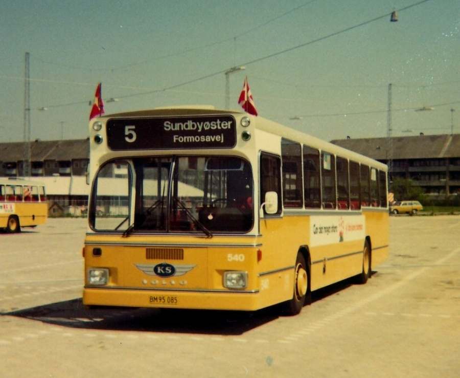 KS 540/BM95085 i Husum garage i august 1972