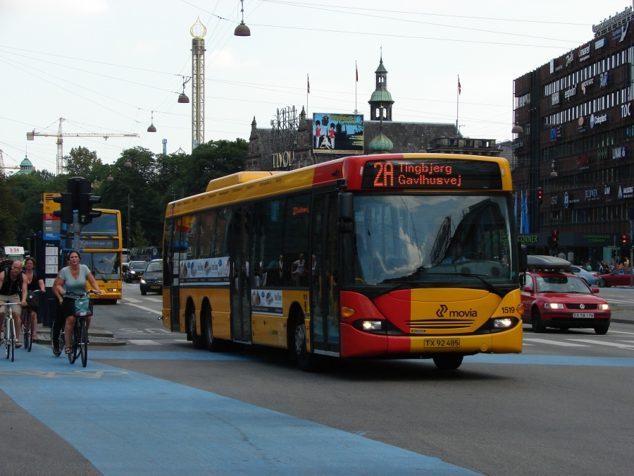 Arriva 1519/TX92485 ved Rådhuspladsen i København den 1. juli 2009