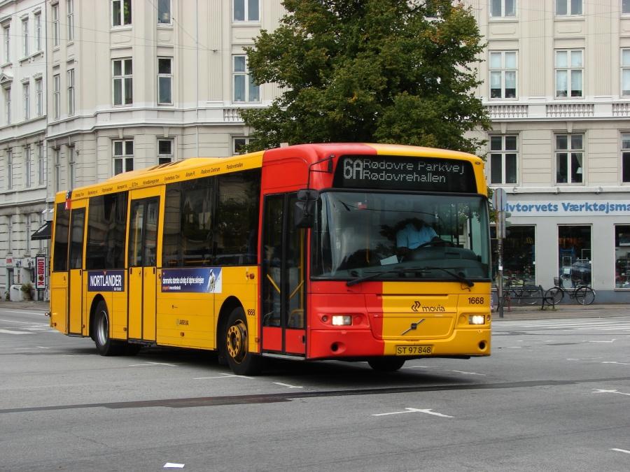 Arriva 1668/ST97848 i Sølvgade i København den 16. september 2008