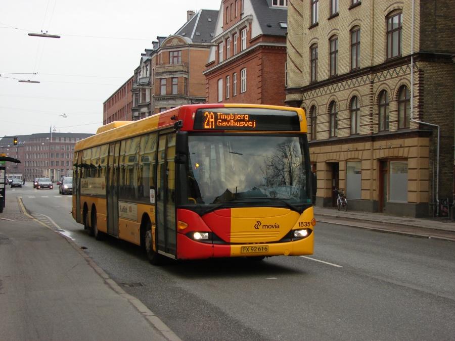 Arriva 1535/TX92616 på Rosenørns Allé på Frederiksberg den 13. marts 2011