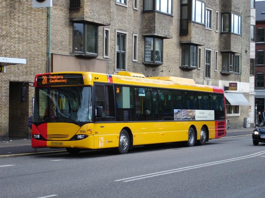 Arriva 1518/TX92484 på Godthåbsvej på Frederiksberg den 23. oktober 2005