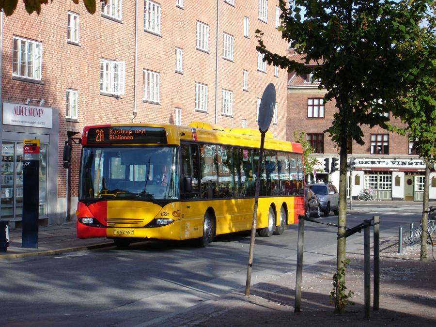 Arriva 1521/TX92487 ved Brønshøj Torv den 23. oktober 2005