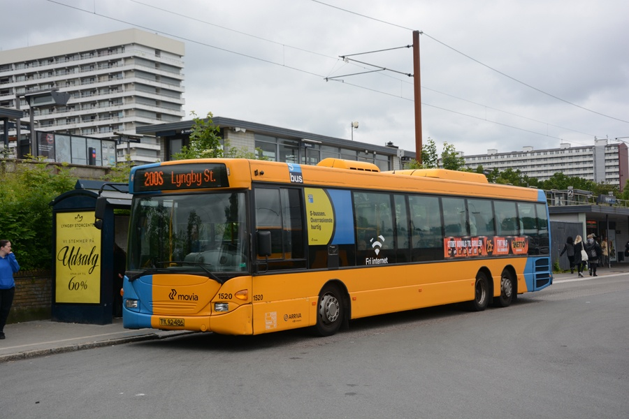 Arriva 1520/TX92486 ved Rødovre st. den 16. juni 2015