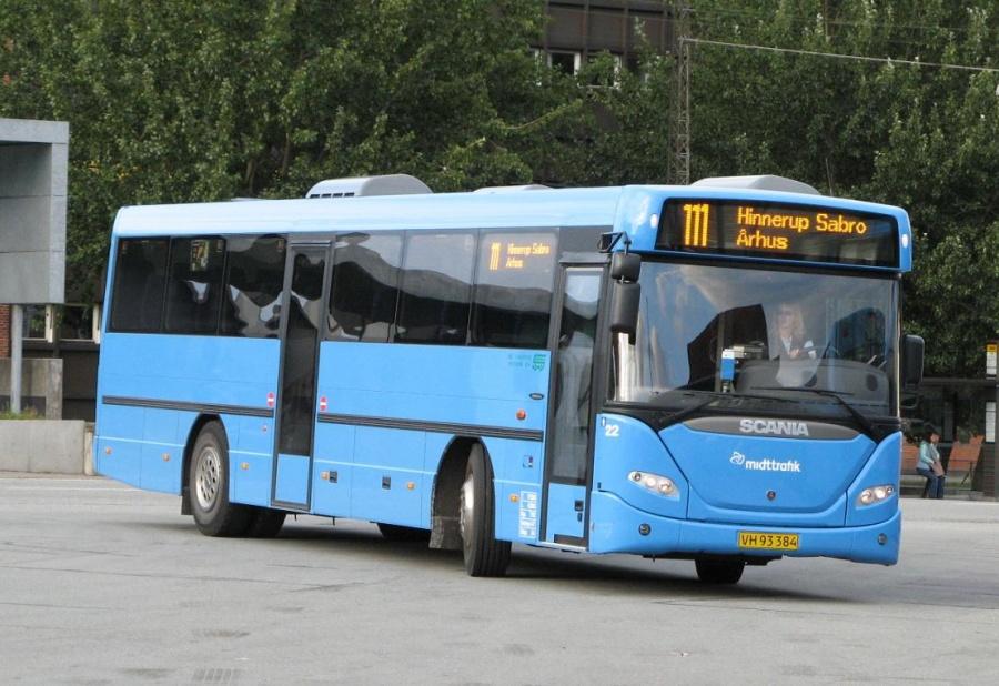 De Grønne Busser 22/VH93384 på Århus Rutebilstation den 16. august 2007