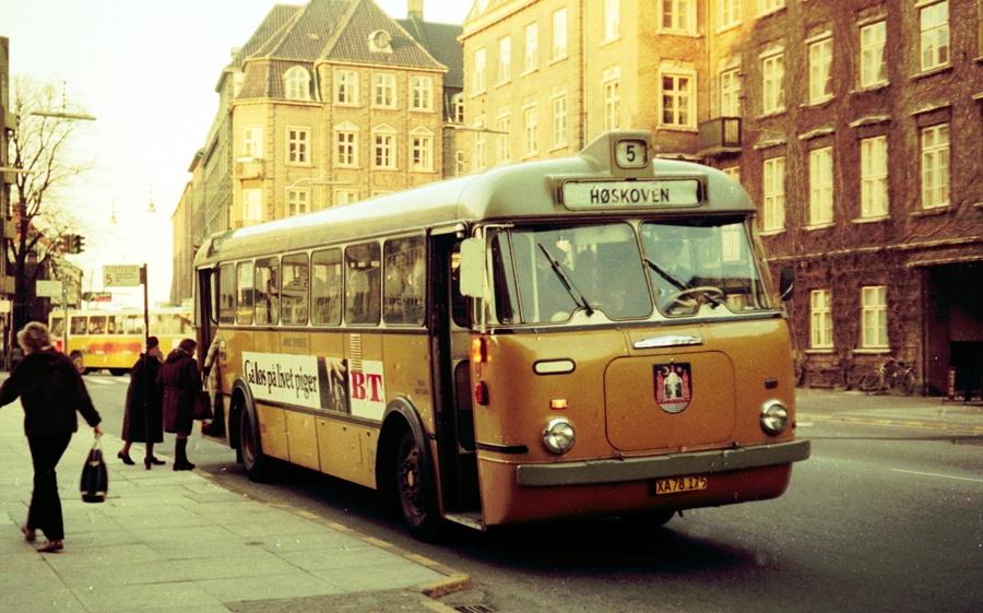 Århus Sporveje 175/XA78175 på Rådhuspladsen i Århus den 26. marts 1974