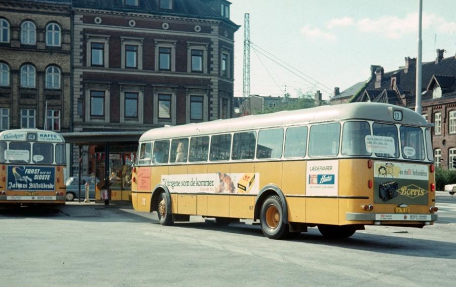 Århus Sporveje 187/XA78187 på Århus rtb. den 31. juli 1975
